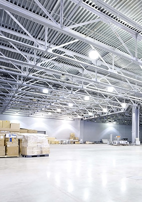 LED Lighting in a Warehouse