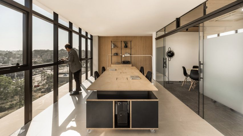 Conference Room with Light Wood Coloring