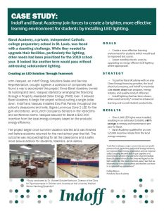 Barat Academy, a private Catholic college prep school, was looking to improve their learning environment while also reducing their monthly energy bill. They took advantage of local rebates while utilizing the expertise of our energy solutions Partners to maximize their ROI.