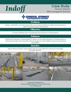 General Atomics utilizes drones to deliver the final touches on their aircraft. They were in need of a mezzanine that could easily store their drone fleet while not slowing down the construction process.