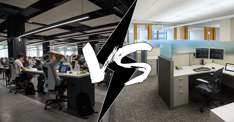 Comparing the Open Floor Plan Concept to a Cubicle System