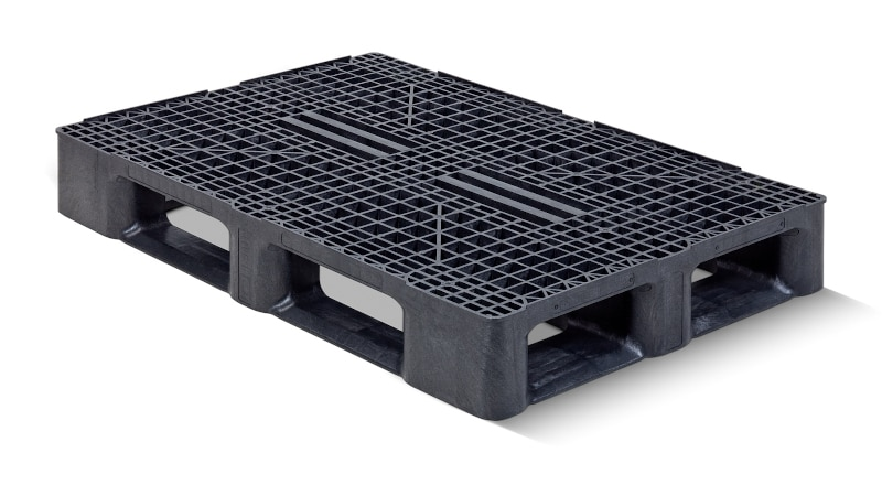 An image of a ventilated plastic pallet